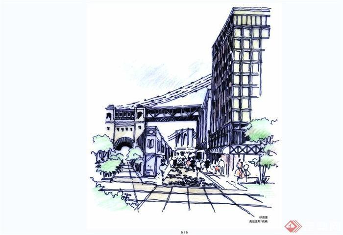 手绘美达麦斯国际建筑效果图JPG图片(4)