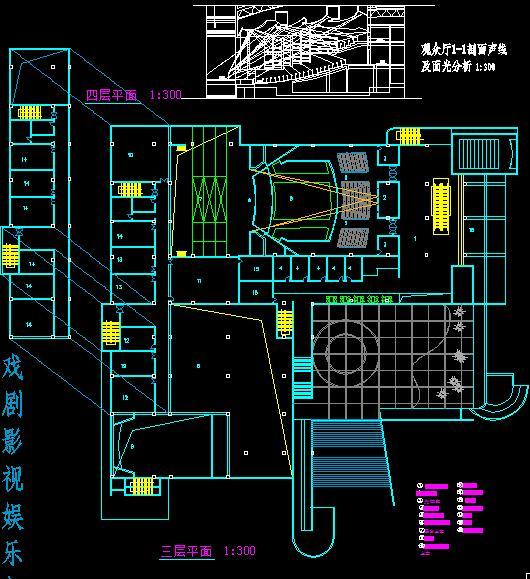 三層劇場建筑設計方案圖紙[原創]