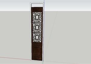 某现代中式风格木雕窗设计SU(草图大师)模型