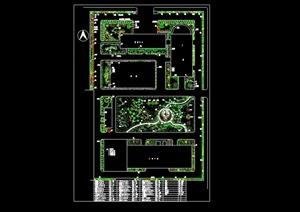 某现代工厂全套绿化规划设计cad方案