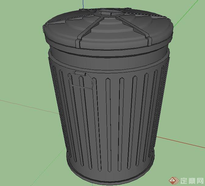 66款园林景垃圾桶合集su模型[原创]