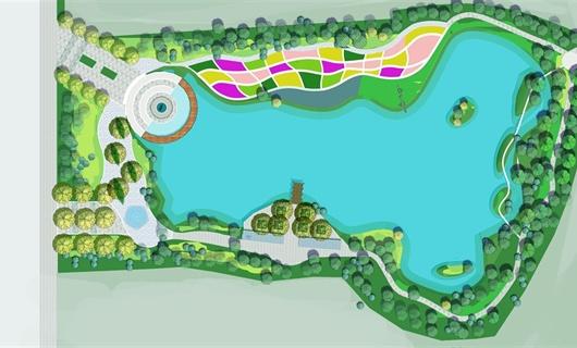 江西九江共青城南湖滨河公园景观设计