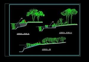 某生态驳岸设计cad方案图