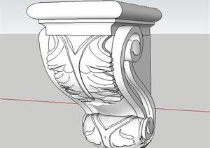 拱顶石SU(草图大师)模型