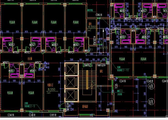 六层临湖宾馆建筑施工图-22600平(7)