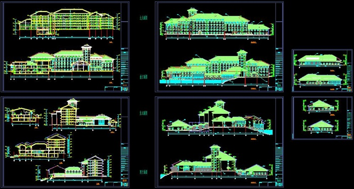 六层临湖宾馆建筑施工图-22600平(8)