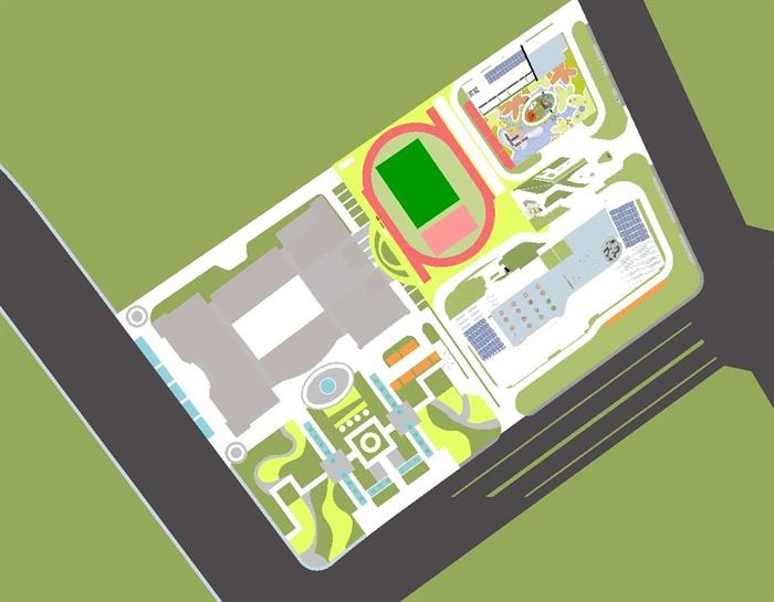 现代小学加幼儿园建筑设计SU模型含JPG图片,附件包含SU模型和JPG图片,模型制作细致美观,现代风格建筑,小学与幼儿园建筑,有景观,室内设计,欢迎下载。