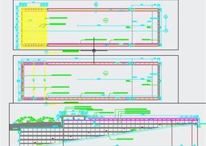 车库入口廊架设计施工图