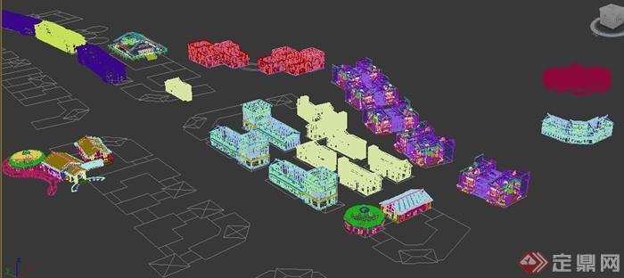 中式风格农产品市场建筑设计3dmax模型(5)