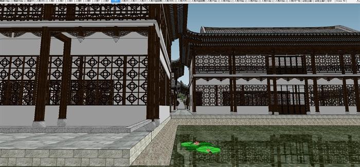 苏州四大名园之拙政园建筑与景观SU模型(2)