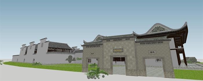 苏州四大名园之拙政园建筑与景观SU模型(6)