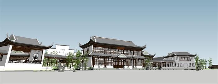 苏州四大名园之拙政园建筑与景观SU模型(8)