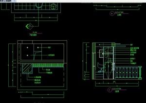 某现代中式风格阳台装修设计CAD施工图