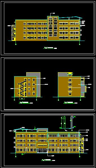 四层框架结构15班小学教学楼建筑施工图[原创]