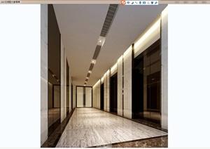 某现代风格办公空间室内装饰设计CAD施工图含JPG效果图