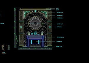 欧式风格室内装饰构件设计合集CAD方案