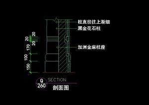 欧式柱体设计cad剖面图