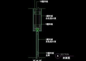 某现代风格滑道节点设计cad施工图