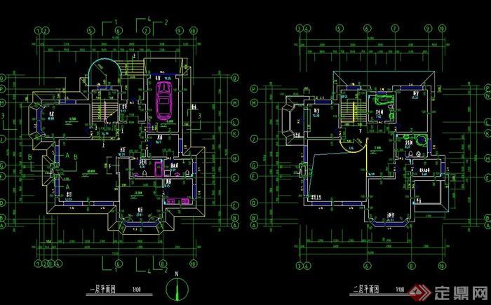 某细致欧式风格别墅建筑设计cad方案含jpg效果图[原创