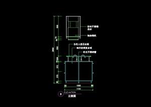 现代风格室内厨房立面图CAD图块