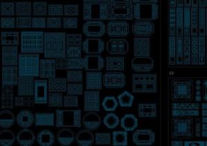 中式构件图库设计合集CAD方案