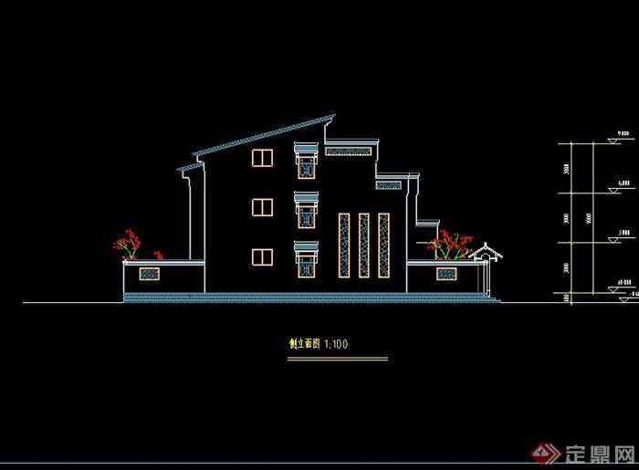 式风格别墅建筑设计CAD施工图含设计说明