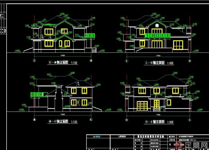 2层欧式小别墅建筑设计cad图纸带效果图,别墅为欧式风格,可直接下载用于相关别墅设计使用,有需要请下载使用。