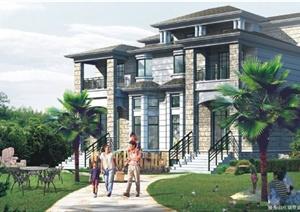 住宅别墅建筑平面方案图