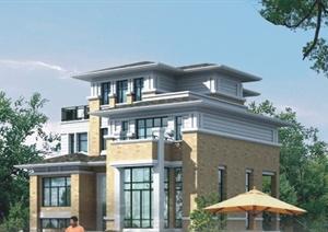 四层住宅别墅建筑方案图