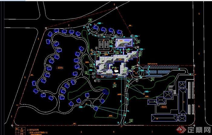 某欧式风格多层滨湖宾馆建筑设计CAD施工图(12)