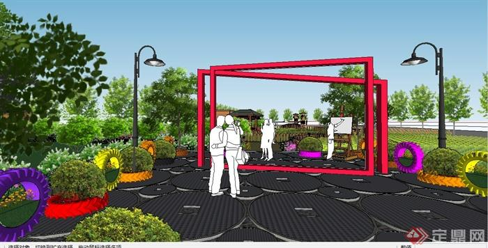 某现代风格生态庄园景观规划设计SU模型(5)