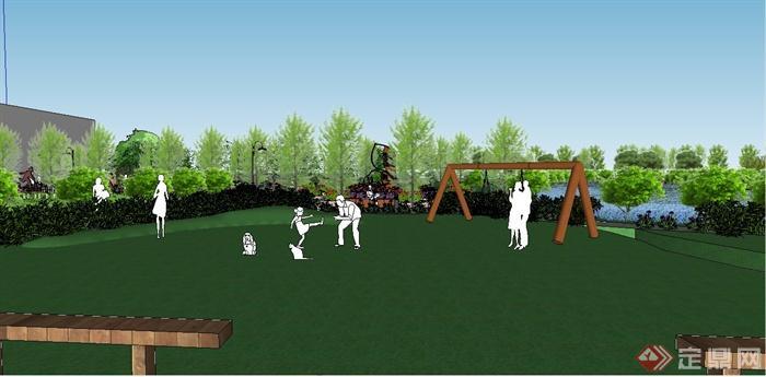 某现代风格生态庄园景观规划设计SU模型(6)