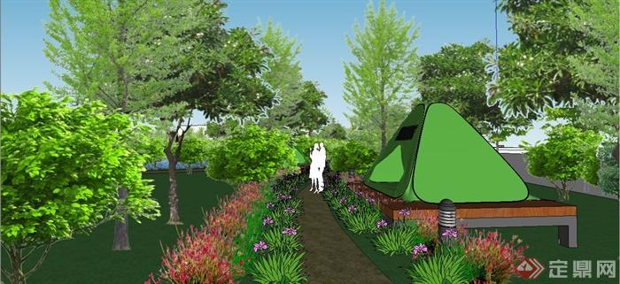 某现代风格生态庄园景观规划设计SU模型(7)