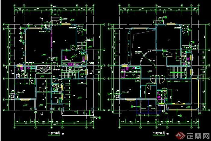 3层独栋家庭别墅施工图带效果图