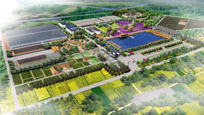 现代休闲生态农场庄园设计su模型[原创]图片
