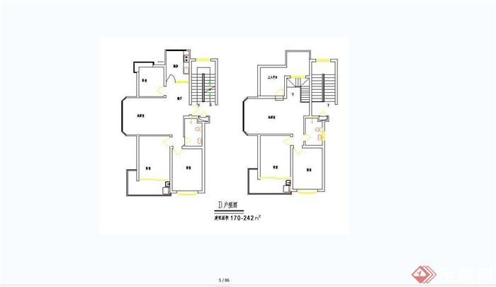 住宅经典户型设计合集jpg方案平面图[原创]