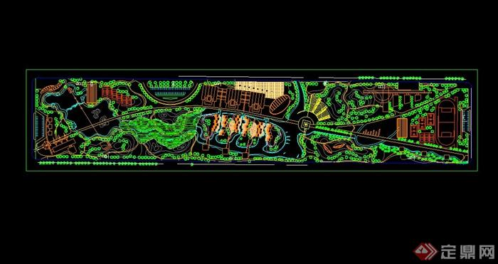 某现代风格住宅小区公园景观规划设计cad方案图[原创]