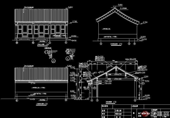 建筑施工电路囹�)�c_中式四合院民居建筑施工图[原创]