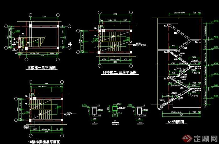 现代村民住宅建筑结构施工图,包含结构图、建筑立面图、各层平面图、剖面图、节点大样图,图纸内容完整细致,具有一定参考价值。