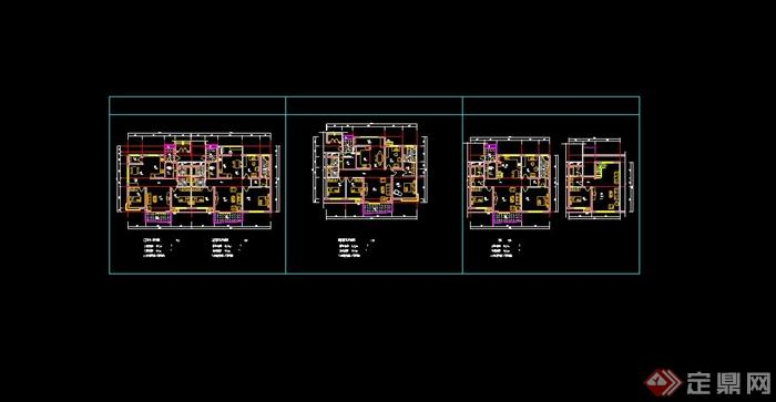 某经典住宅户型图设计CAD方案