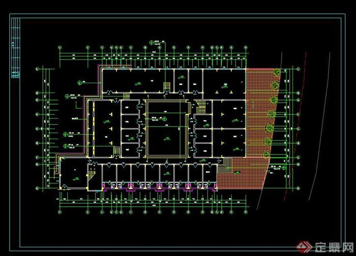 某现代风格集体宿舍楼建筑设计cad施工图[原创]
