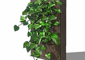 墙面种植池花池SU(草图大师)模型