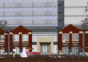 某海派英伦风格商住小区建筑楼设计SU(草图大师)模型