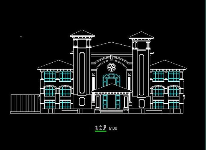 简欧式度假酒店会所建筑设计su模型(附cad平立面图 效果图)[原创]