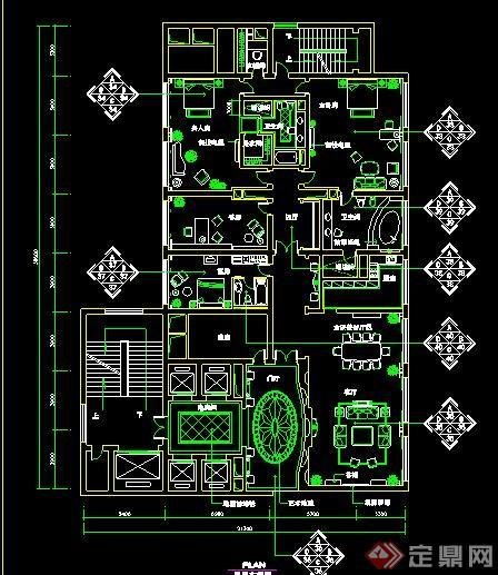 酒店总统套房室内设计施工图[原创]