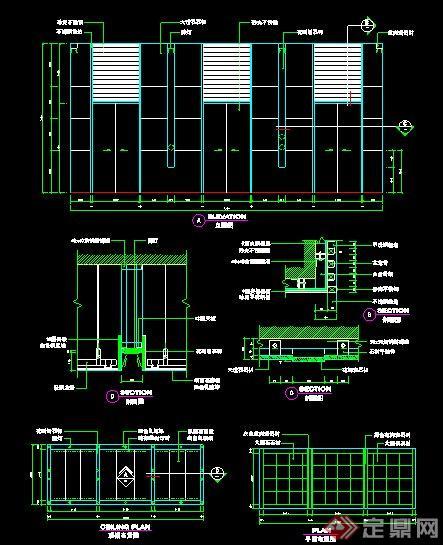 多套电梯间室内设计施工图[原创]