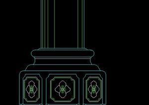 多款中式柱子局部方案图