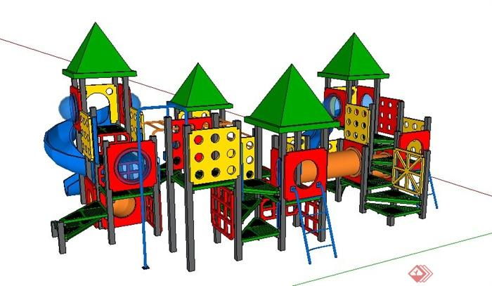 儿童游乐设施su精细模型(2)