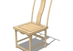 现代中式风格详细单人椅子设计SU(草图大师)模型