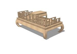 古典中式风格桌椅设计SU(草图大师)模型